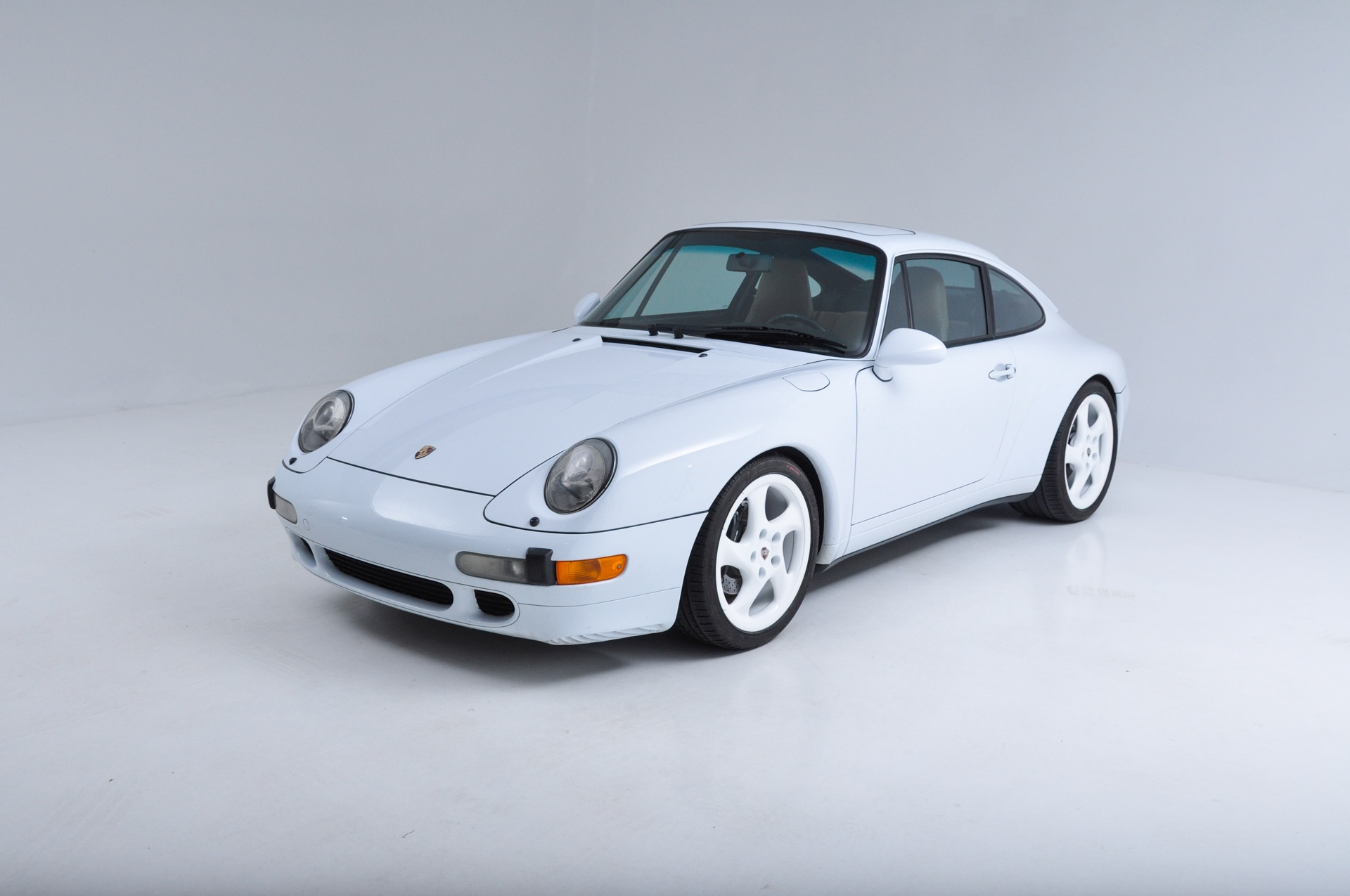 sell used 1997 porsche 993 carrera 2 coupe rare glacier white tan 6 spd 57 000 miles mint in. Black Bedroom Furniture Sets. Home Design Ideas